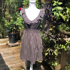 Anthropologie Maeve Gray Lace Dress  A136
